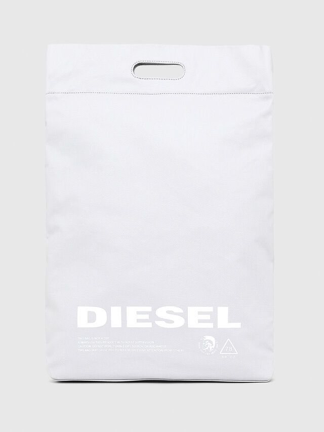 Diesel - F-LITT SHOPPER N/S, White - Shopping and Shoulder Bags - Image 1