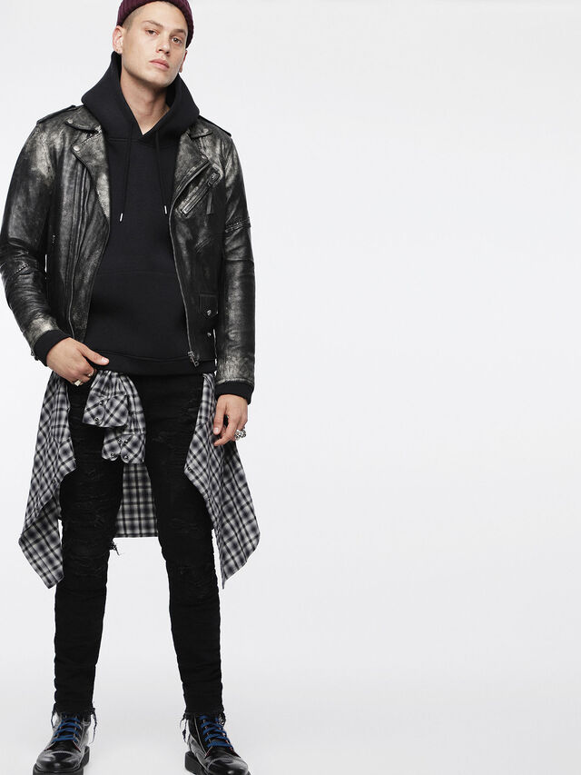 Diesel - L-INGRAN, Black Leather - Leather jackets - Image 6