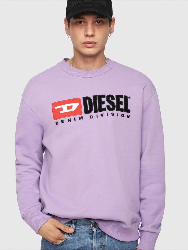 Diesel - S-CREW-DIVISION, Lilac - Sweatshirts - Image 1