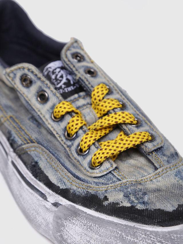 Diesel - S-FLIP LOW W, Blue Jeans - Sneakers - Image 4