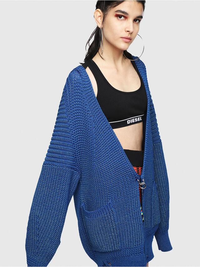 Diesel - M-CRI, Blue - Sweaters - Image 4