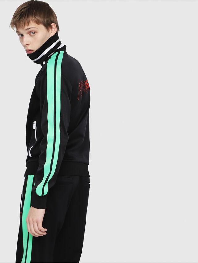 Diesel - S-HISOKA, Black/Green - Sweatshirts - Image 2