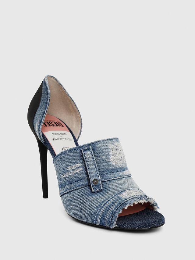 Diesel - SA-SLANTY OTD, Blue Jeans - Sandals - Image 4