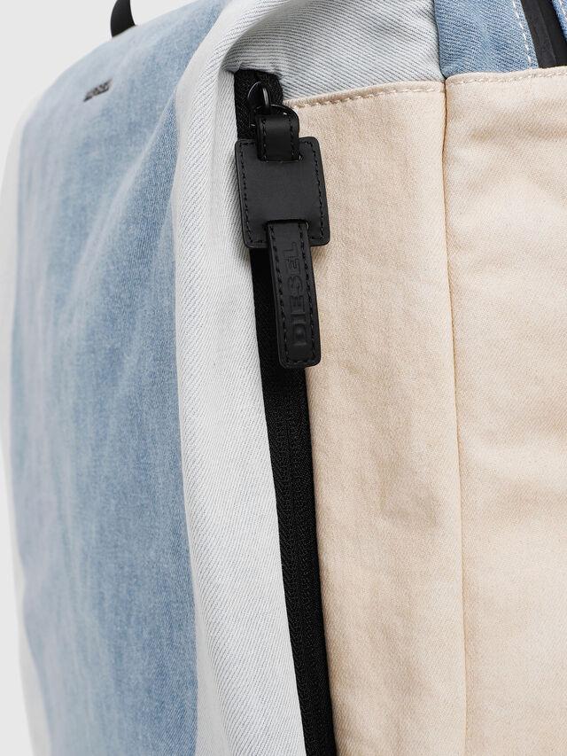 Diesel - D-SUBTORYAL DENIM BA, Blue/White - Backpacks - Image 3