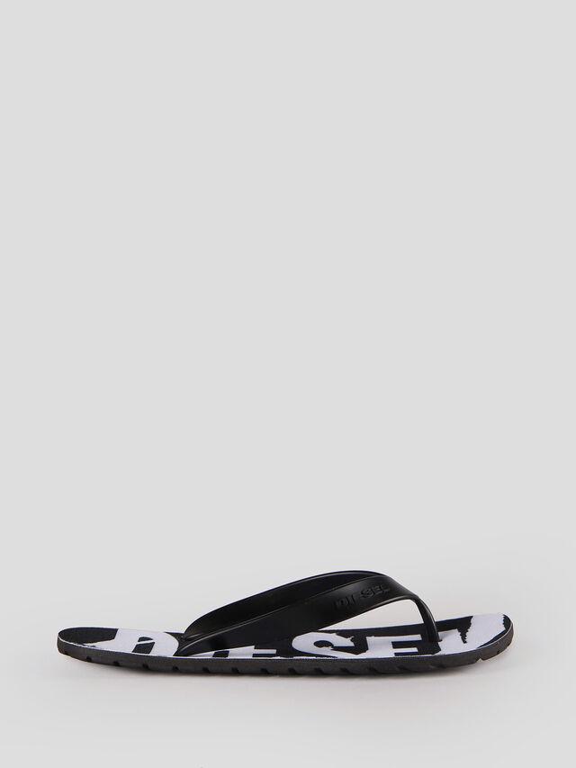 Diesel - SPLISH, Black/White - Slippers - Image 1