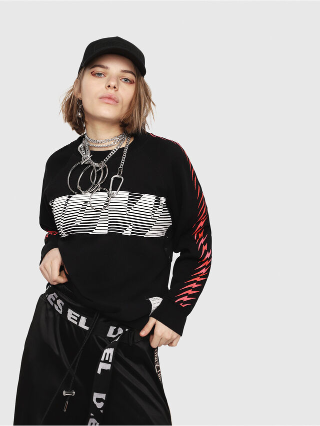 Diesel - F-ROXXY-D, Black - Sweatshirts - Image 1