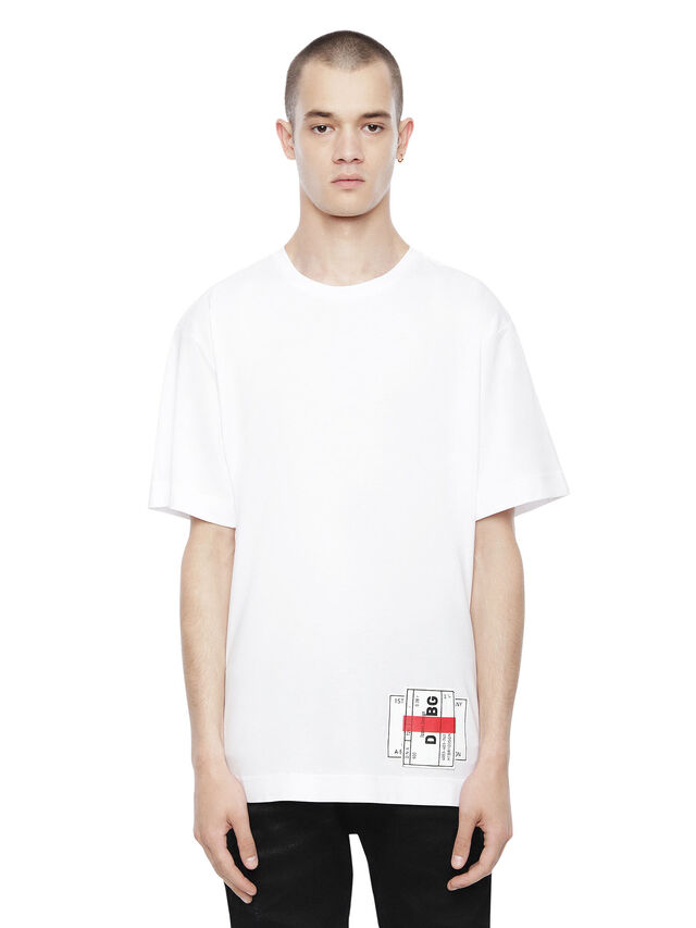 Diesel - TEORIAL-PATCH, White - T-Shirts - Image 1