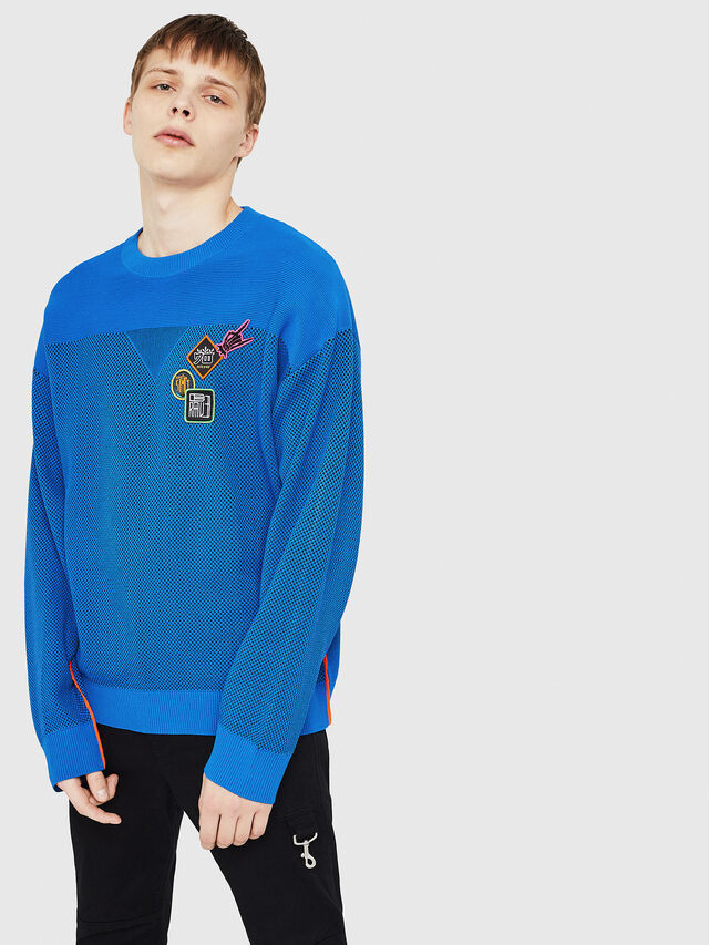 Diesel - K-TREY, Brilliant Blue - Sweaters - Image 1