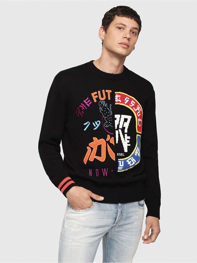 Diesel - K-FUT, Multicolor/Black - Sweaters - Image 1