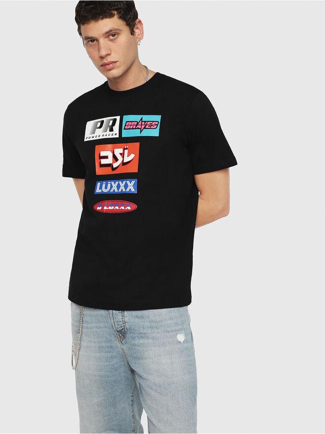 Diesel - T-JUST-YA, Black - T-Shirts - Image 1