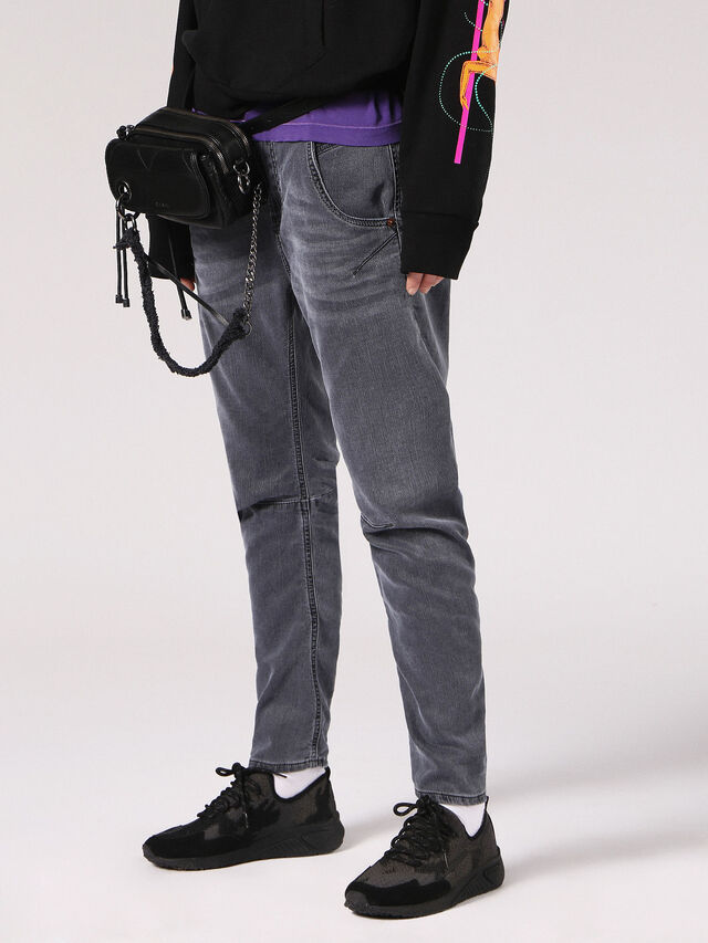 Diesel - Fayza JoggJeans 0689V, Black/Dark Grey - Jeans - Image 4