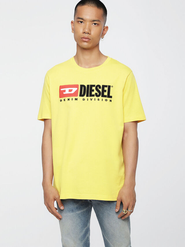 Diesel - T-JUST-DIVISION, Yellow - T-Shirts - Image 1