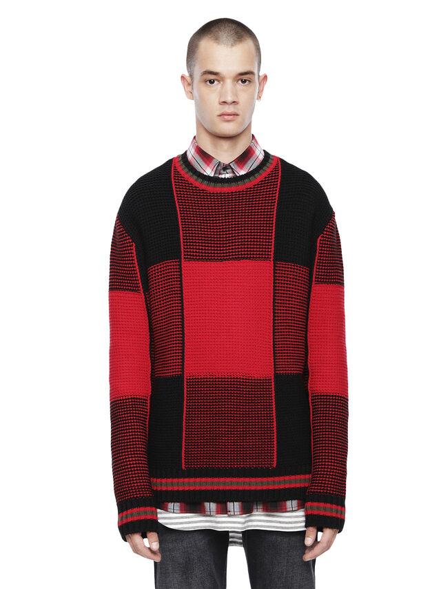 Diesel - KILTY, Red/Black - Sweaters - Image 1
