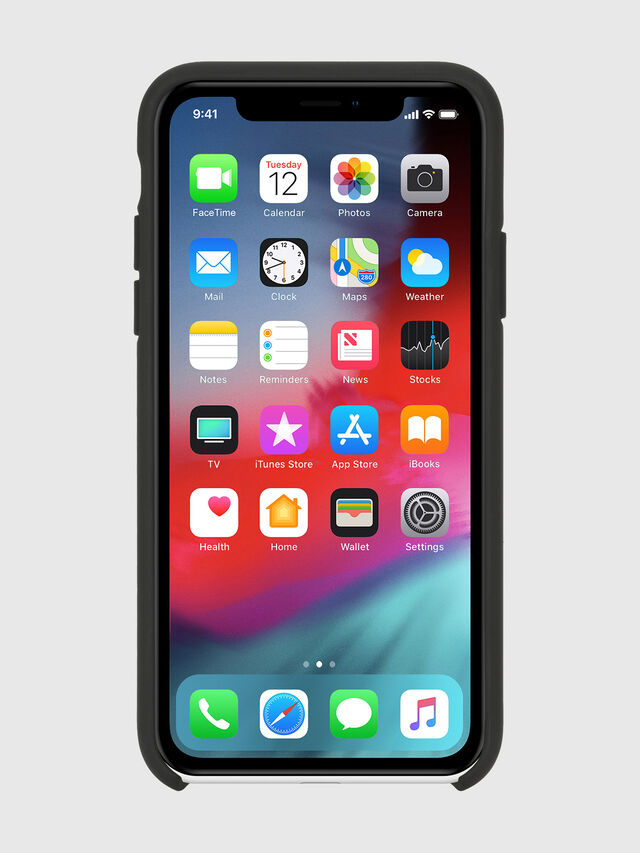 Diesel - DIESEL PRINTED CO-MOLD CASE FOR IPHONE XR, Black/White - Cases - Image 3