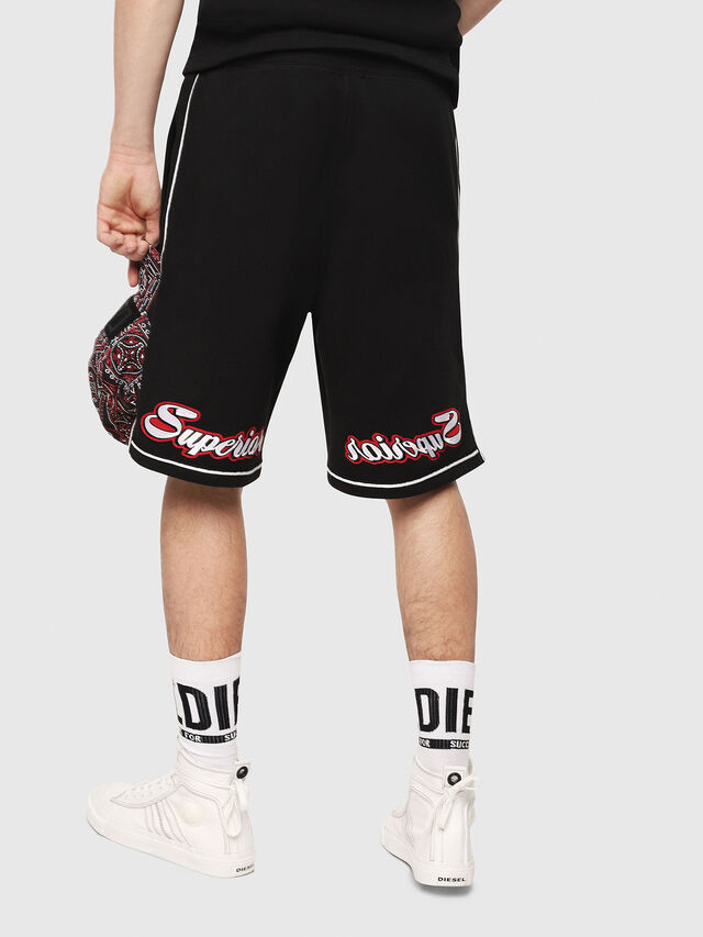 Diesel - P-KOU-TAPE, Black - Shorts - Image 2