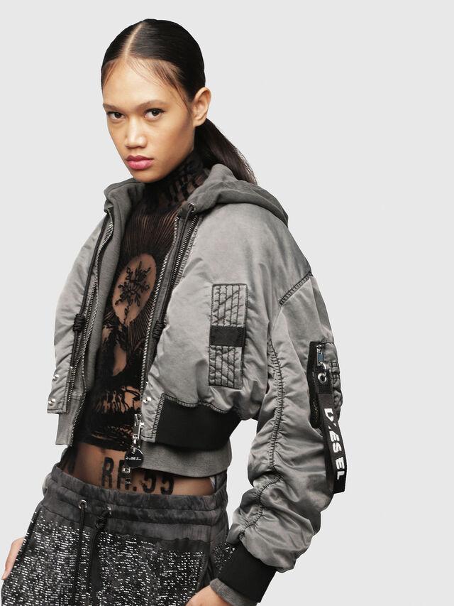 Diesel - G-IKUE, Grey - Jackets - Image 3