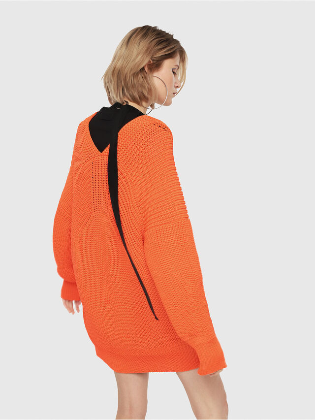 Diesel - M-CRI, Orange Fluo - Sweaters - Image 2