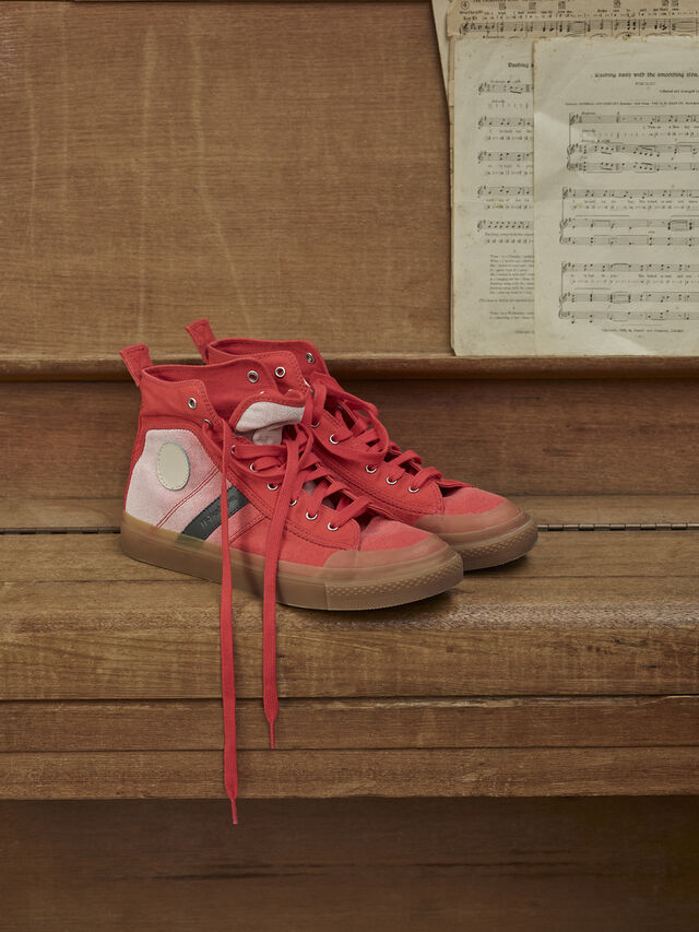 Diesel - GR02 SH32, Red/White - Sneakers - Image 3