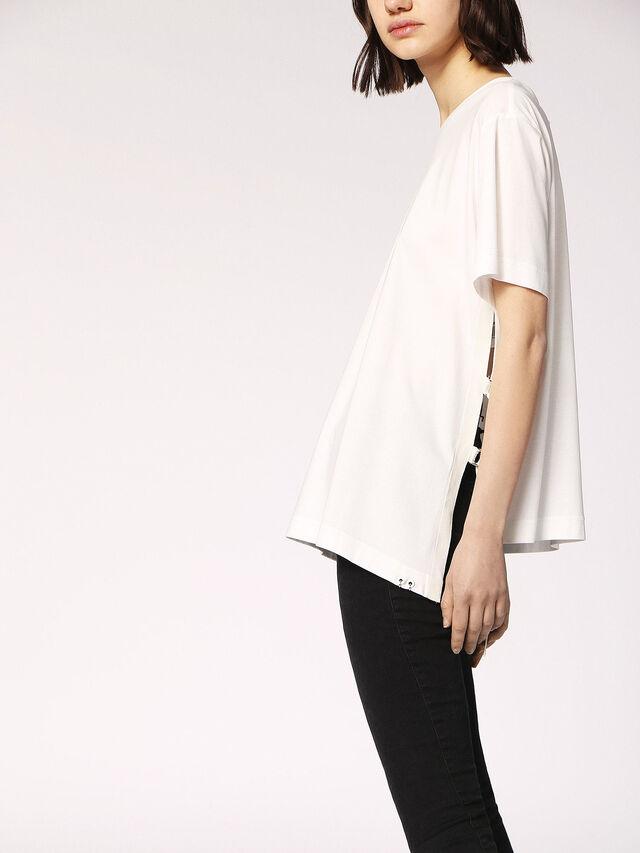 Diesel - T-FLEURIS, White - T-Shirts - Image 3