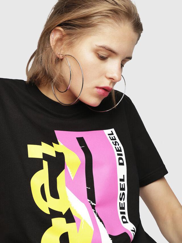 Diesel - T-FLAVIA-F, Black - T-Shirts - Image 4