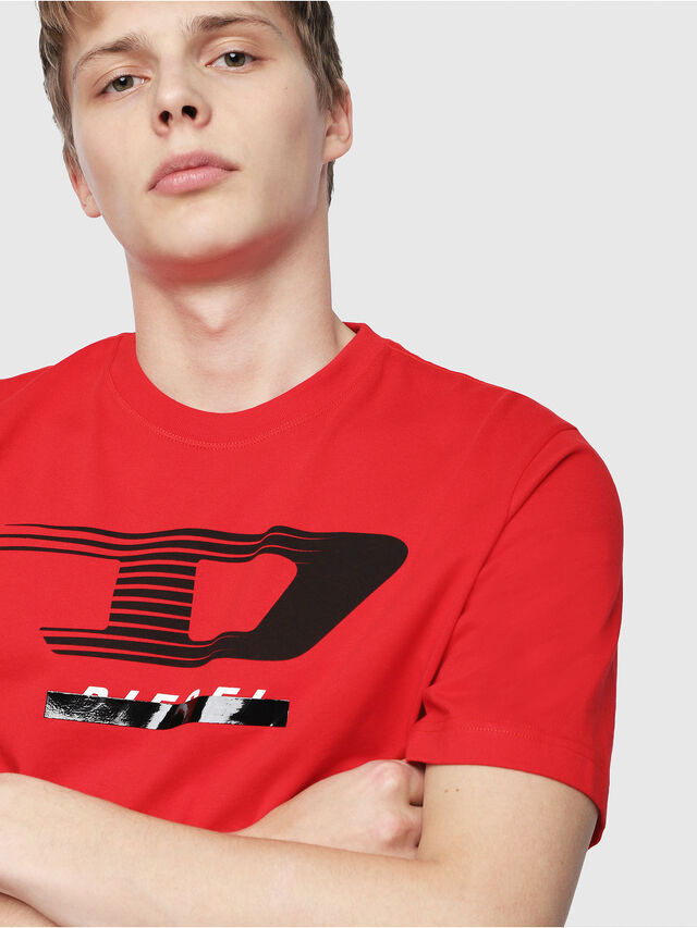 Diesel - T-JUST-Y4, Red - T-Shirts - Image 3