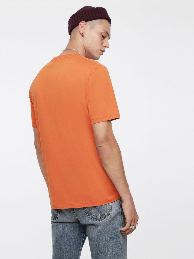 Diesel - T-JUST-DIVISION, Orange - T-Shirts - Image 2