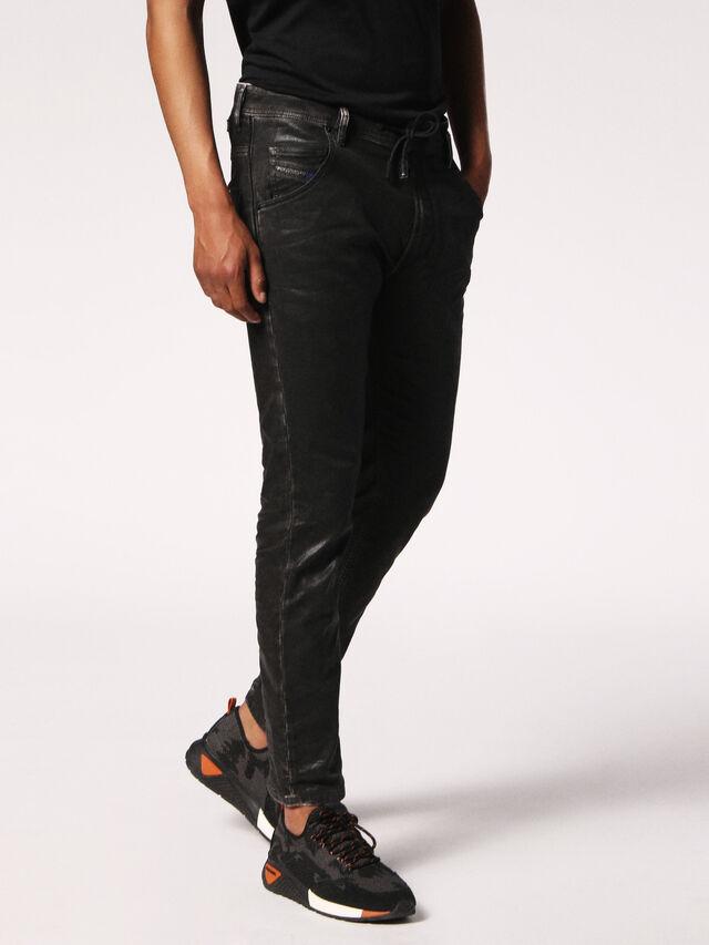Diesel - Krooley JoggJeans 084HH, Black/Dark Grey - Jeans - Image 3