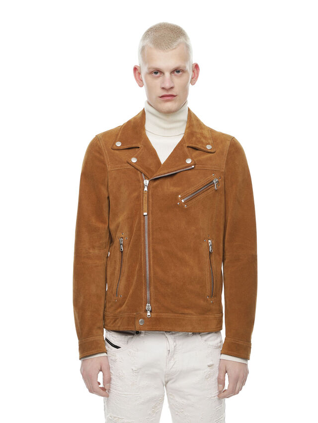 Diesel - LASKAI, Brown/Beige - Leather jackets - Image 1