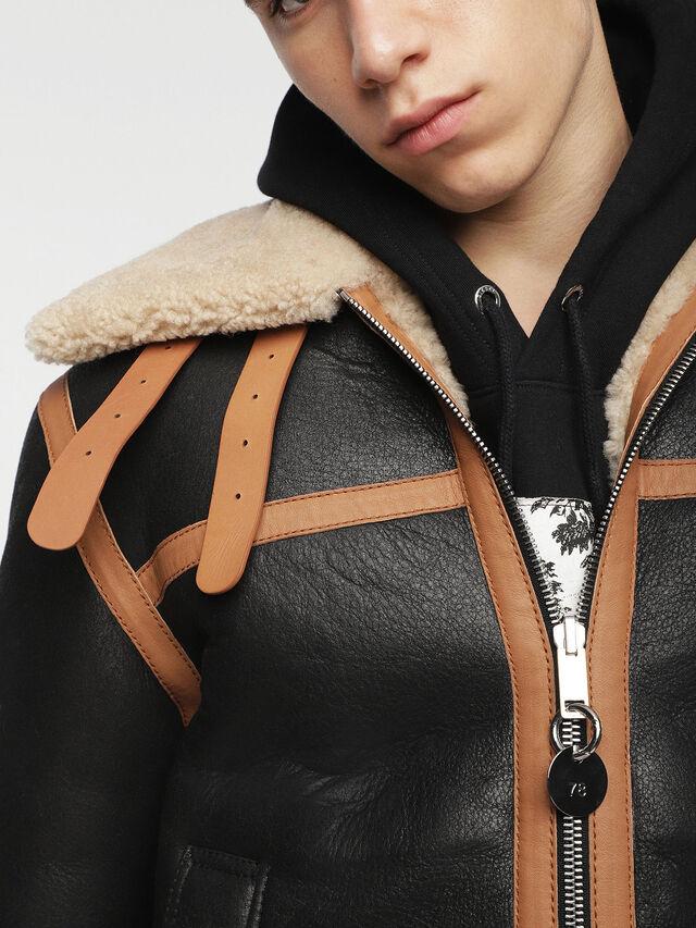 Diesel - L-FOLSON, Black/Brown - Leather jackets - Image 6