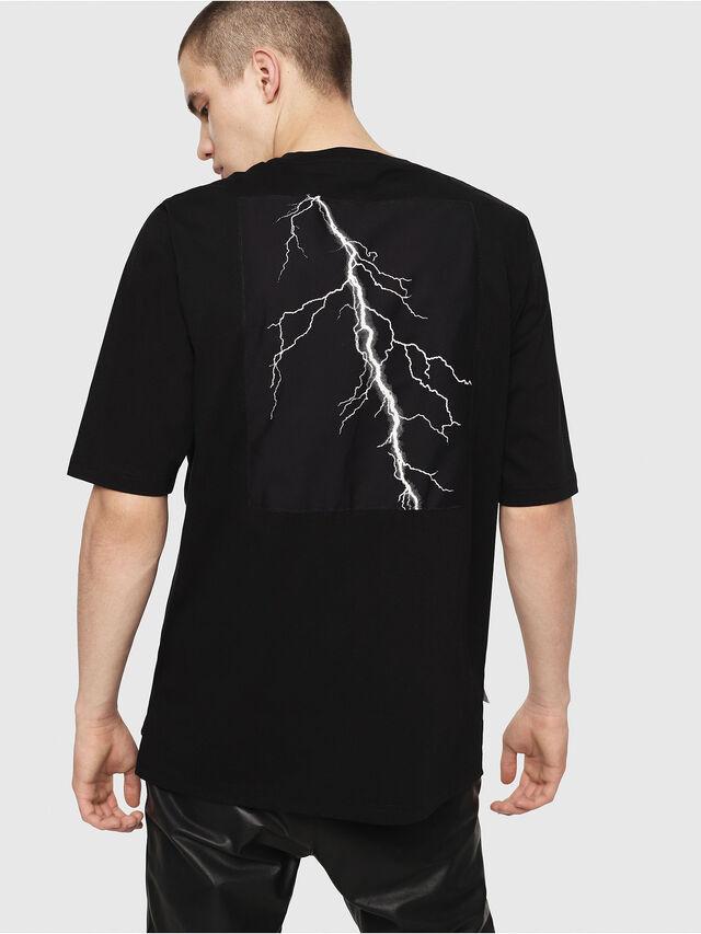 Diesel - T-YOSHIMI, Noir/Jaune - T-Shirts - Image 2