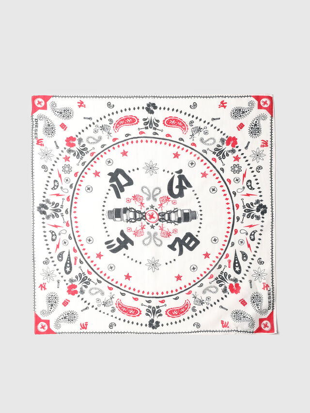 Diesel - S-BANDY, White/Red - Scarves - Image 2