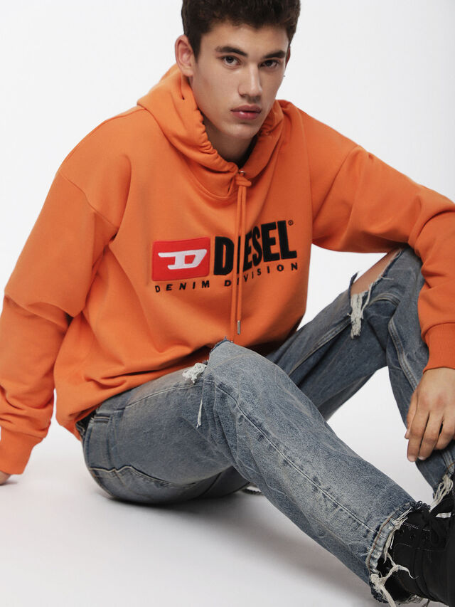 Diesel - S-DIVISION, Orange - Sweatshirts - Image 4