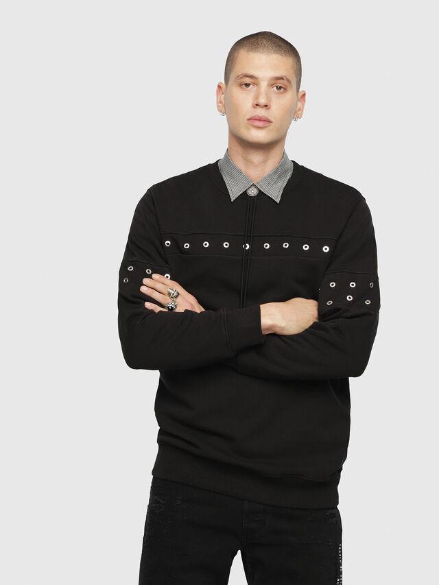 Diesel - S-GIR-XMAS, Black - Sweatshirts - Image 1