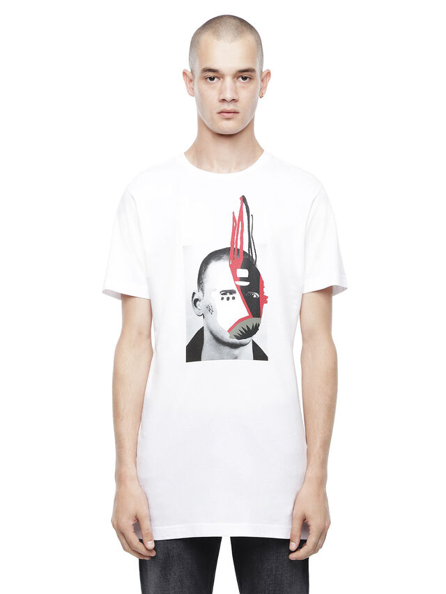 Diesel - TYRONE-M9, White - T-Shirts - Image 1