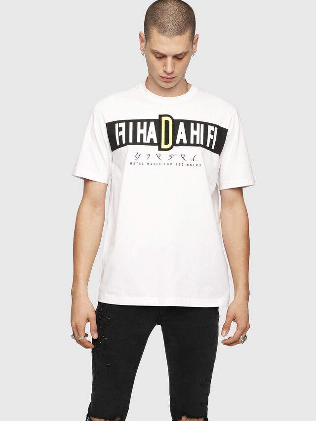Diesel - T-JUST-YZ, White - T-Shirts - Image 1