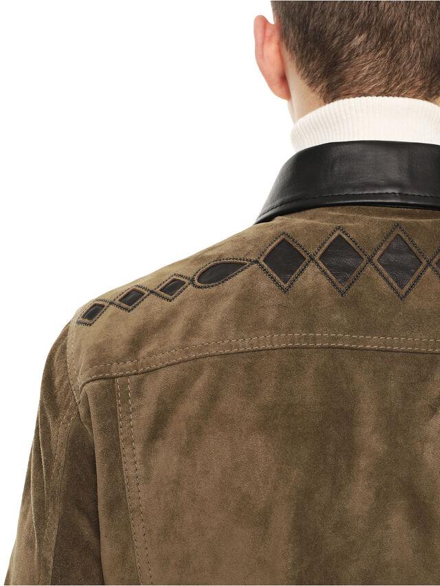 Diesel - LYRICH, Green/Black - Leather jackets - Image 5