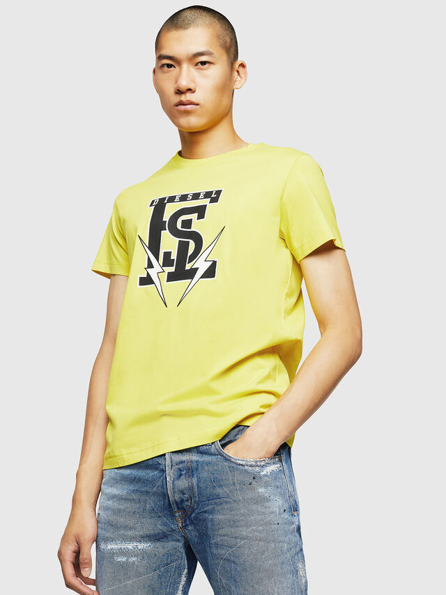 Diesel - T-DIEGO-B3, Yellow - T-Shirts - Image 1