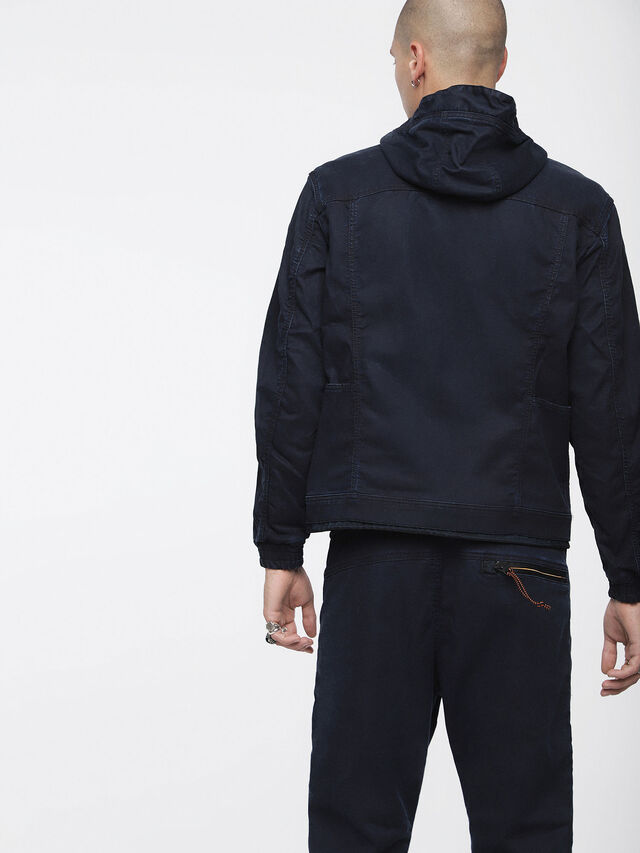 Diesel - MONSHI JOGGJEANS, Dark Blue - Denim Jackets - Image 2