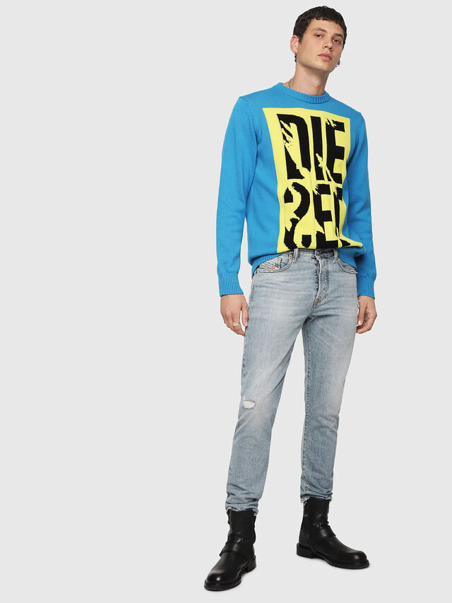 Diesel - K-MAXIS-A, Blue/Yellow - Sweaters - Image 4