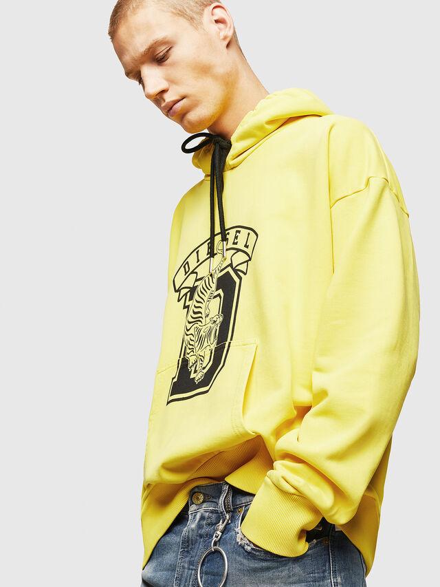 Diesel - S-ALBY-B8, Yellow - Sweatshirts - Image 4