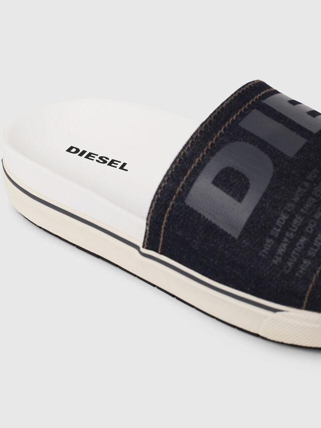 Diesel - SA-GRAND SLIDE, White/Blue - Slippers - Image 4