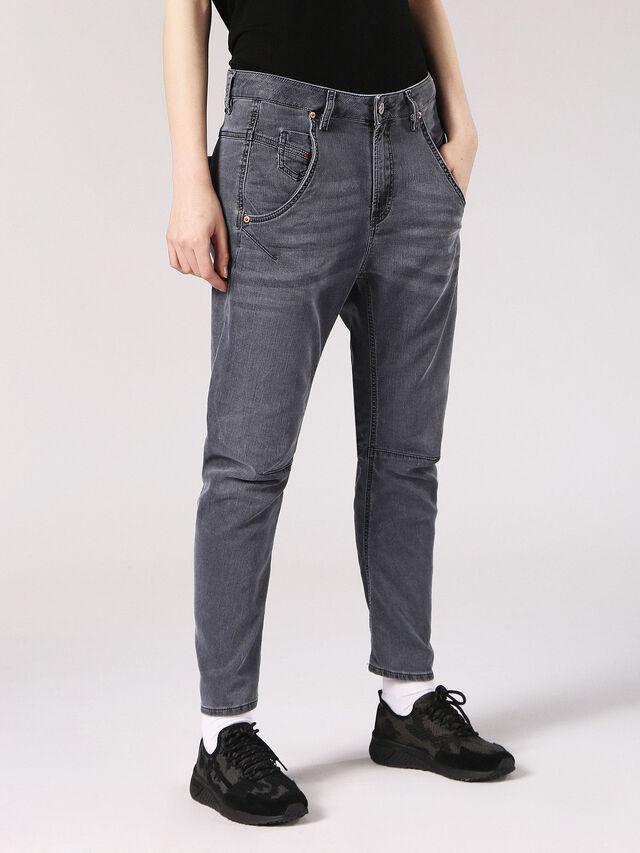 Diesel - Fayza JoggJeans 0689V, Black/Dark Grey - Jeans - Image 5