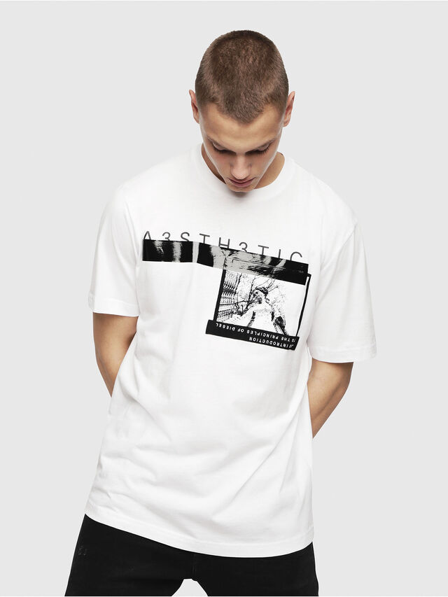 Diesel - T-JUST-YP, White - T-Shirts - Image 1