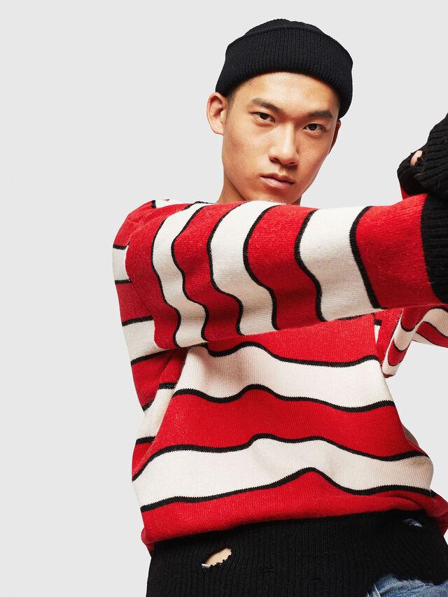 Diesel - K-LOVERY, Red/White - Sweaters - Image 5