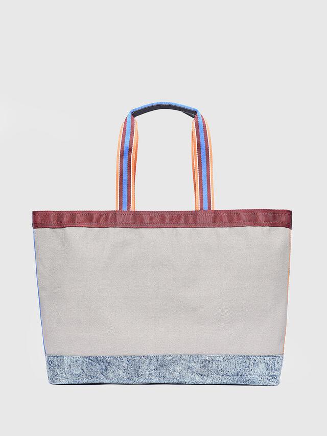 Diesel - F-HEBUYA SHOPPER L, Light Grey - Shopping and Shoulder Bags - Image 1