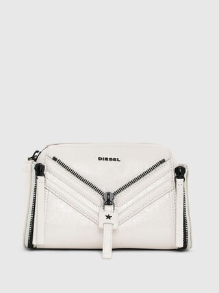 Leather cross-body with metallic finish 98a7b41a44dfd