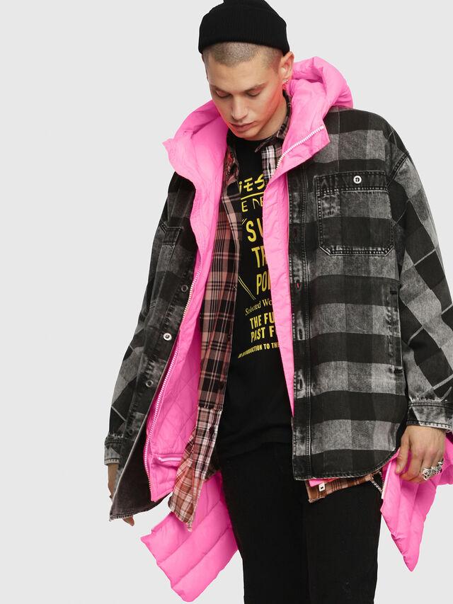 Diesel - W-SUN-REV-A, Pink Fluo - Winter Jackets - Image 4