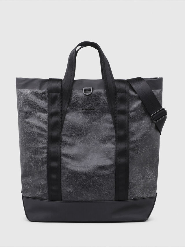 Diesel - VOLPAGO TOTE, Black - Shopping and Shoulder Bags - Image 1