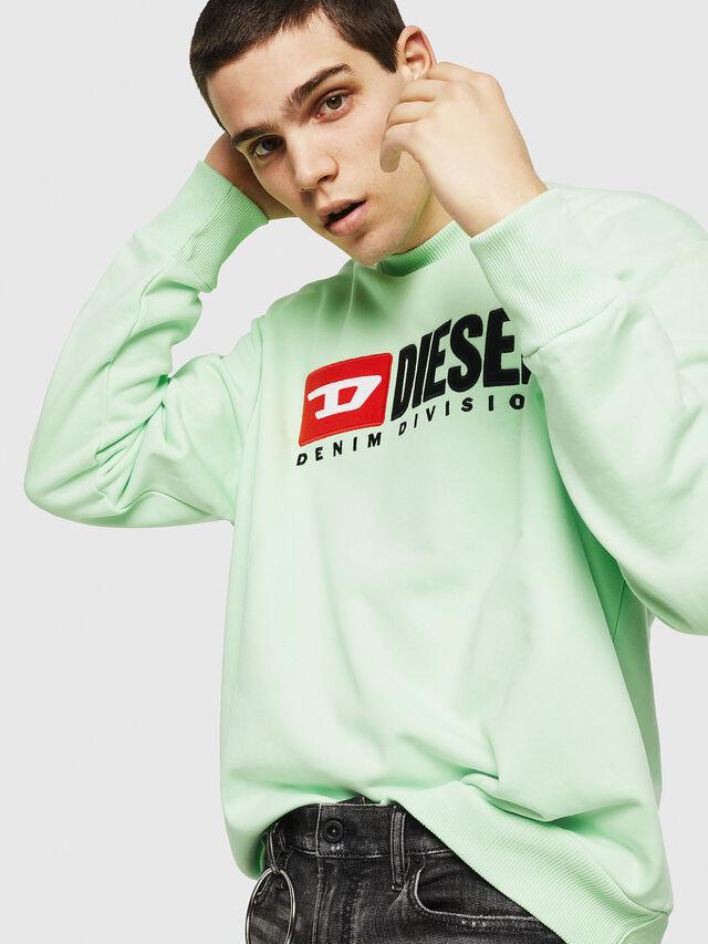 Diesel - S-CREW-DIVISION, Vert Fluo - Pull Cotton - Image 4