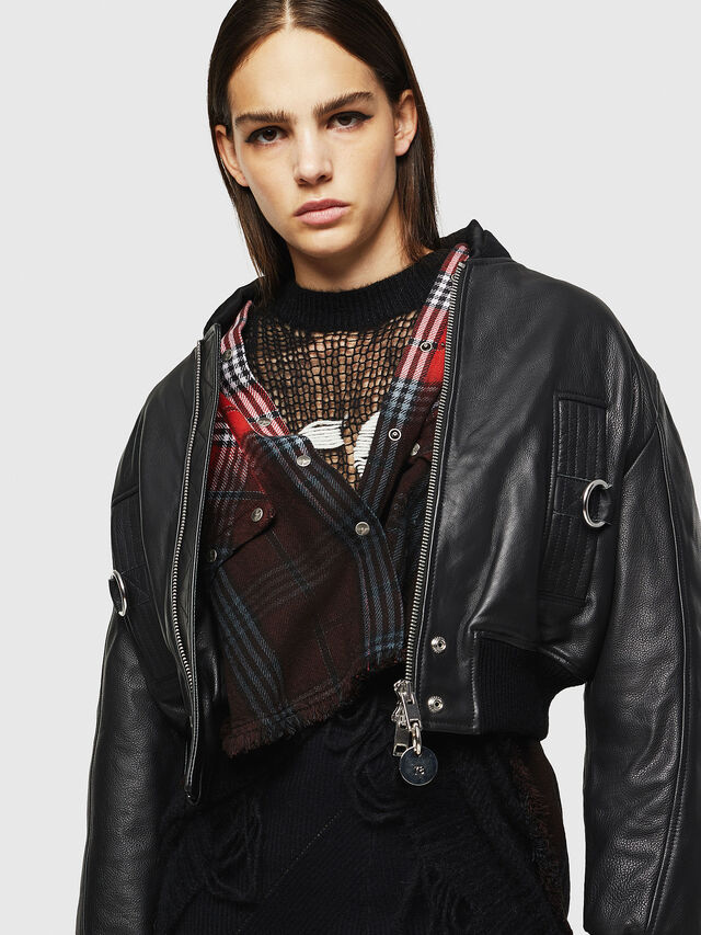 Diesel - L-MANUA, Black - Leather jackets - Image 7